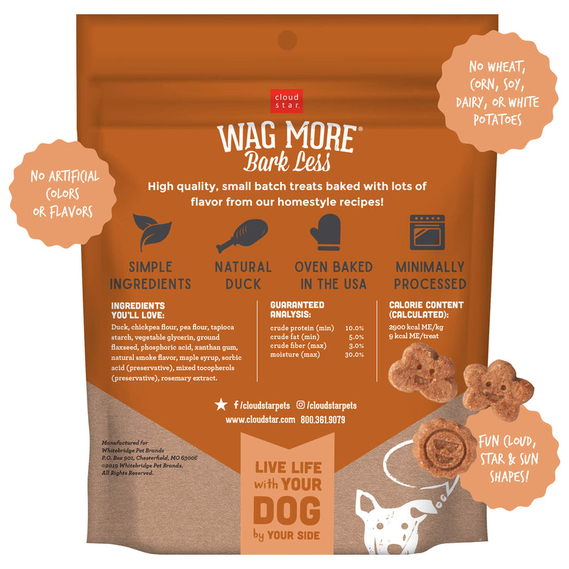 Cloud Star Wag More Bark Less Grain Free Soft & Chewy Dog Treats with Savory Duck, 7oz