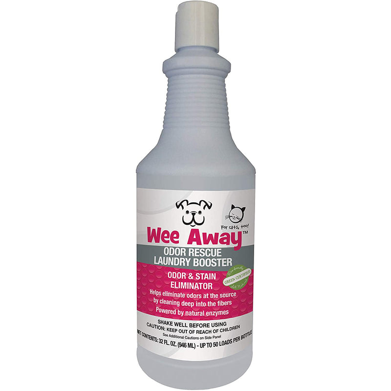 Wee Away Odor Rescue Odor & Stain Remover Laundry Booster, 32oz
