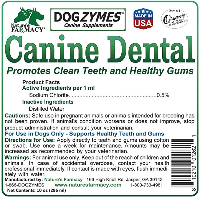 Nature's Farmacy Dogzymes Canine Dental Formula For Dogs, 2oz