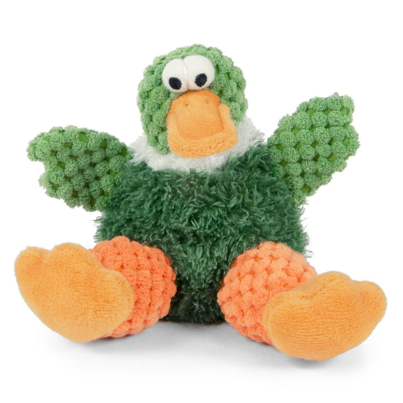 goDog Sitting Duck Durable Squeaky Plush Dog Toy