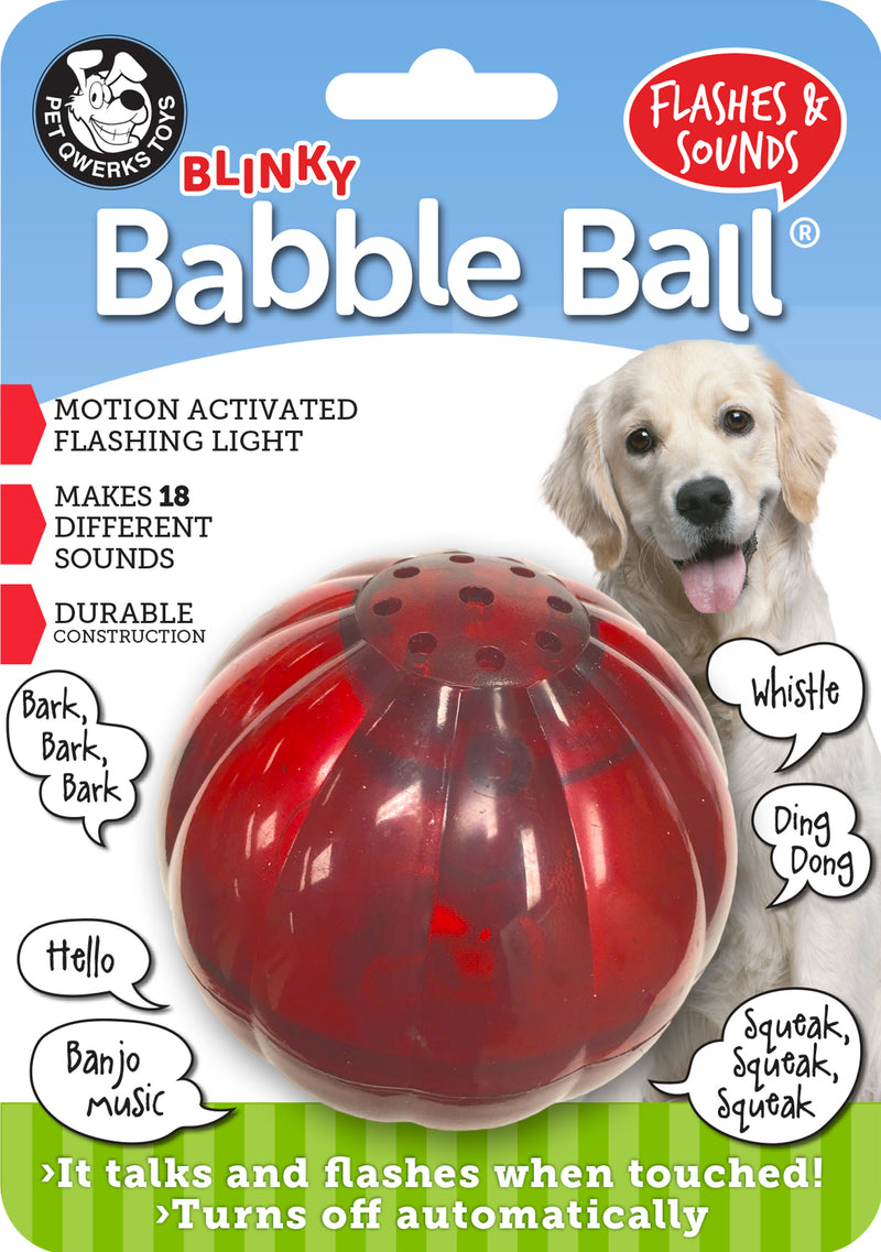 Pet Qwerks Blinkey Babble Ball Interactive Toy For Dogs