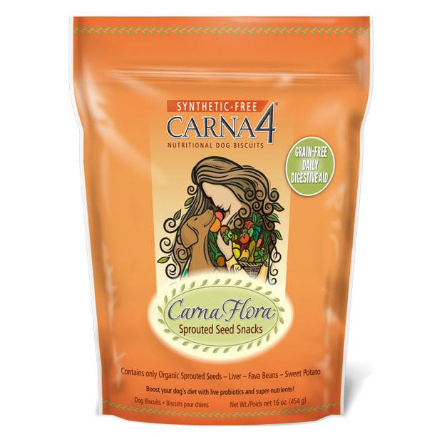 Carna4 CarnaFlora Sprouted Seed Snacks Dog Biscuits