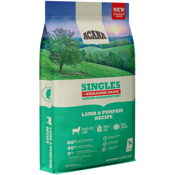 Acana Singles Lamb & Pumpkin Recipe with Wholesome Grains Dry Dog Food