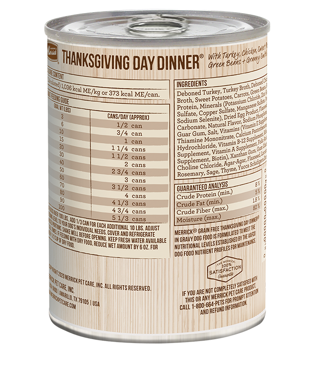 Merrick Thanksgiving Day Dinner Canned Dog Food, 12/13.2oz