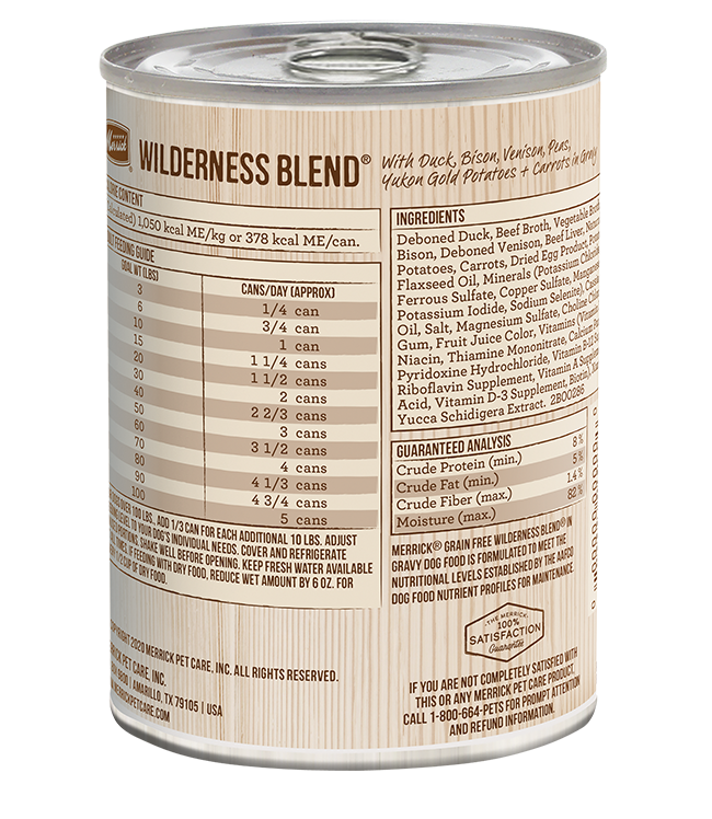 Merrick Wildnerness Blend Canned Dog Food, 12/13.2oz