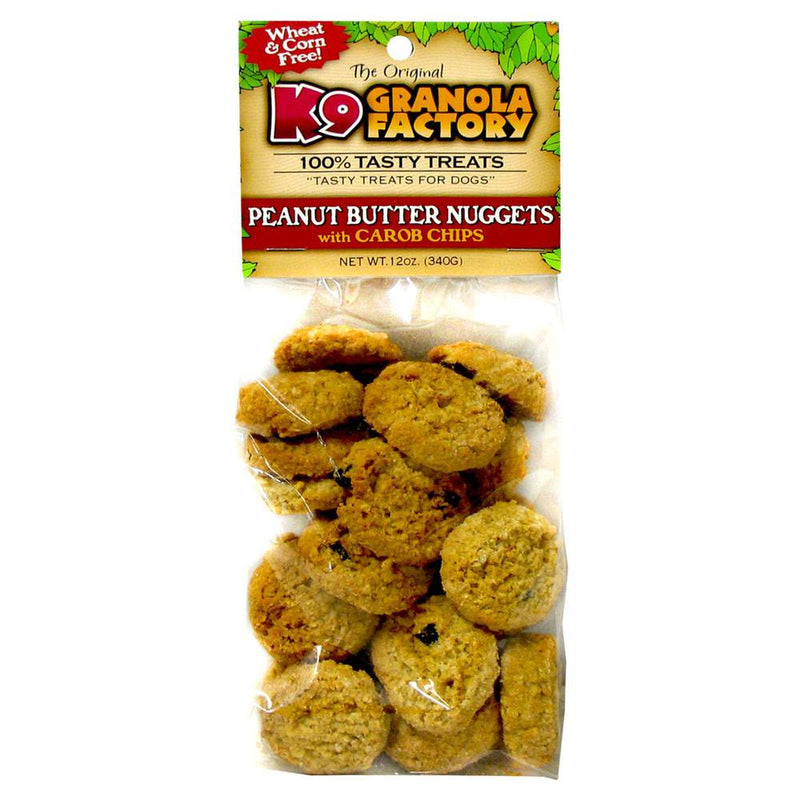 K9 Granola Factory Cookie Collection Peanut Butter & Carob Nuggets Treats For Dogs