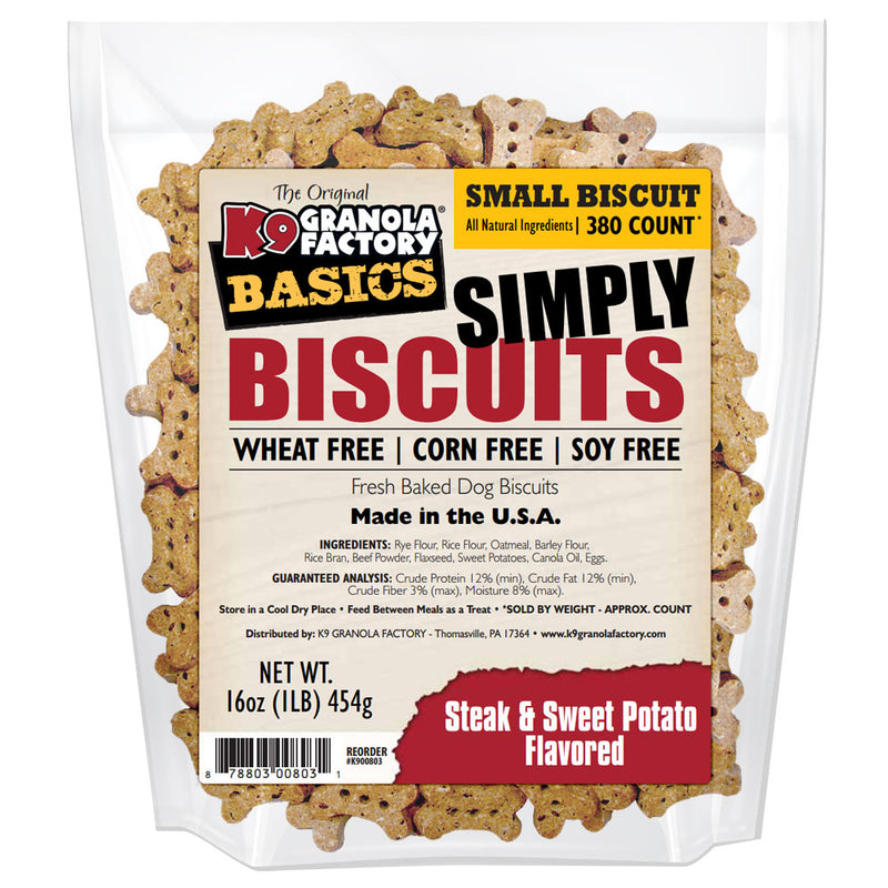K9 Granola Factory Simply Biscuits Steak & Sweet Potato Small