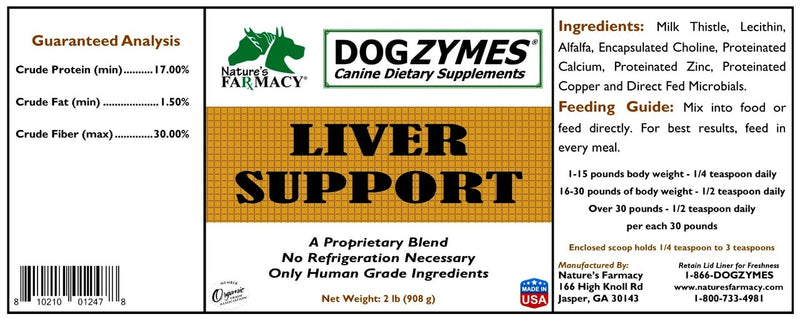 Nature's Farmacy Dogzymes Dogzymes Liver Support Supplement For Dogs, 8oz