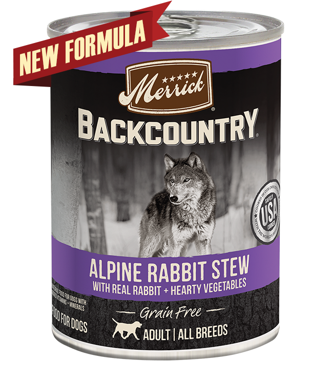 Merrick Backcountry Grain-Free Alpine Rabbit Stew Canned Dog Food, 12/12.7oz