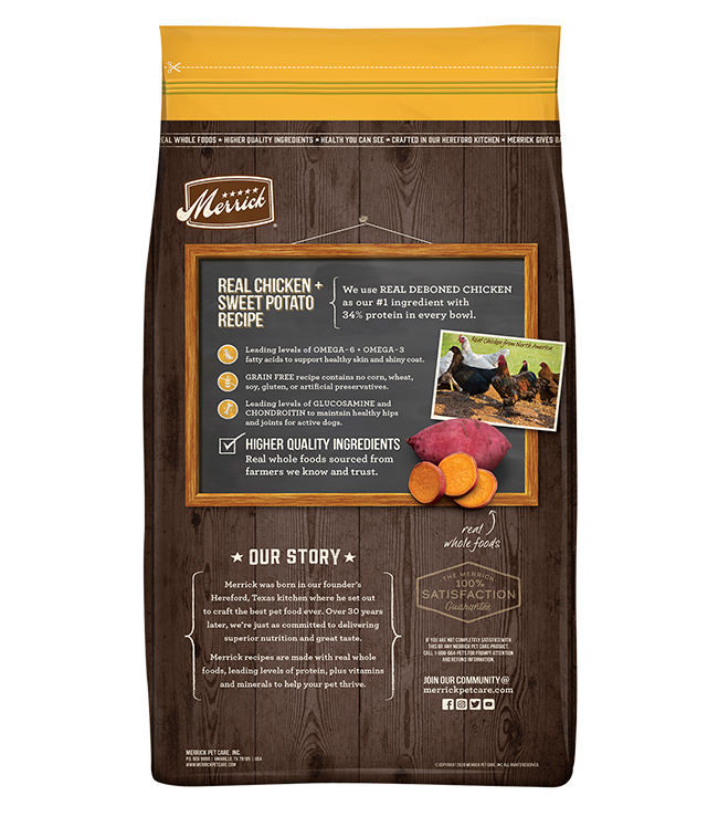 Merrick Grain-Free Real Chicken and Sweet Potato Recipe Dry Dog Food
