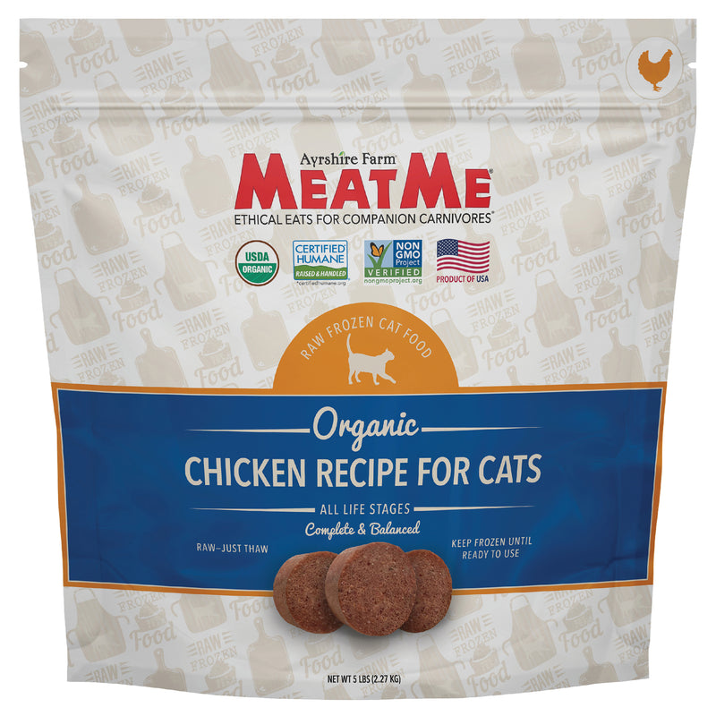 MeatMe Organic Chicken Nuggets Raw Frozen Cat Food