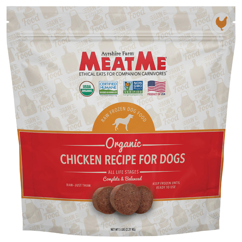 MeatMe Organic Chicken Nuggets Raw Frozen Dog Food