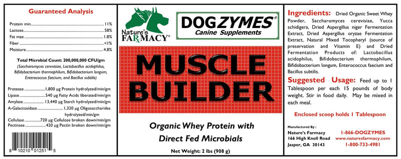 Nature's Farmacy Dogzymes Muscle Builder Supplement For Dogs