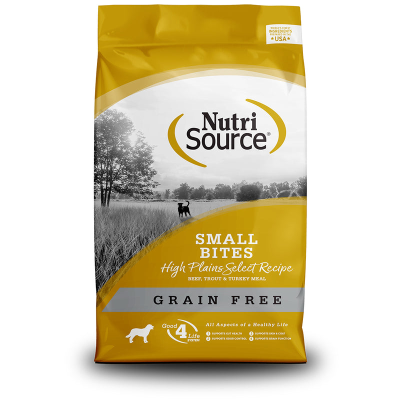 NutriSource Grain Free Small Breed Bites High Plains Select Dry Dog Food