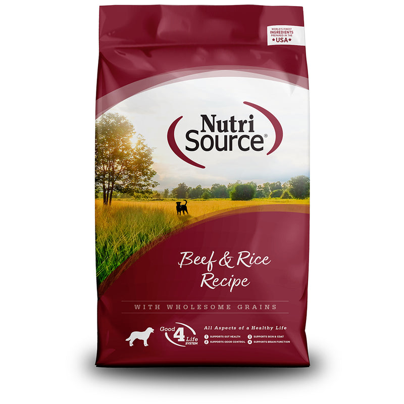 NutriSource Beef & Rice Recipe Dry Dog Food