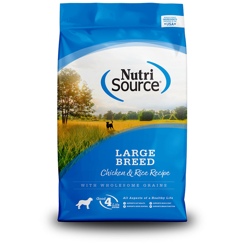 NutriSource Large Breed Adult Chicken & Rice Recipe Dry Dog Food, 30lb