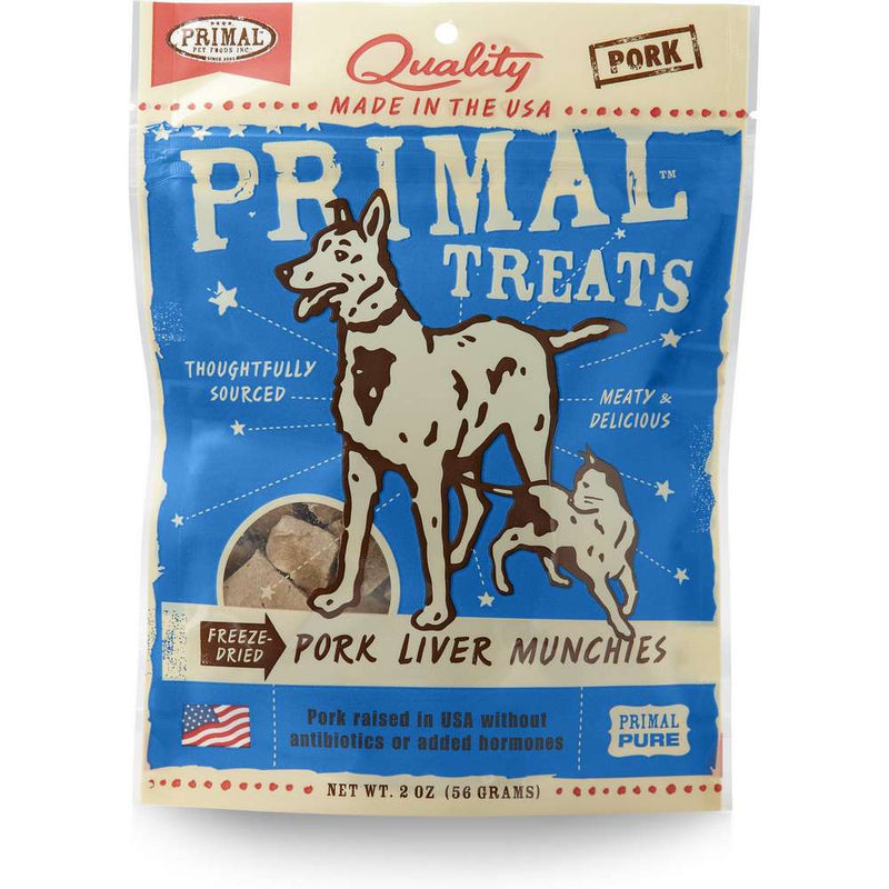 Primal Freeze-Dried Pork Liver Munchies Dog & Cat Treats