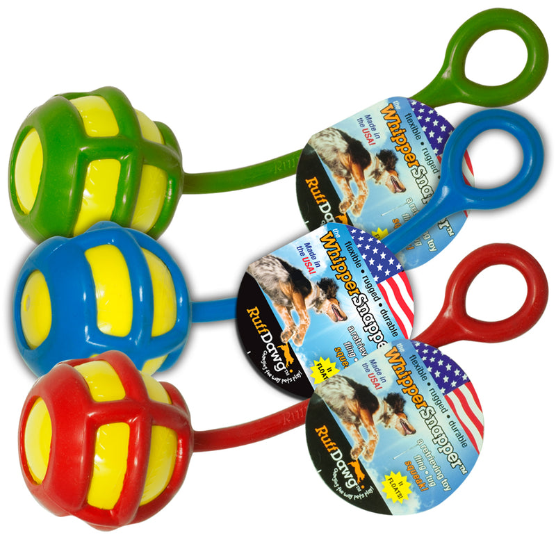 RuffDawg USA Whipper Snapper Rubber Retrieving Dog Toy, Assorted