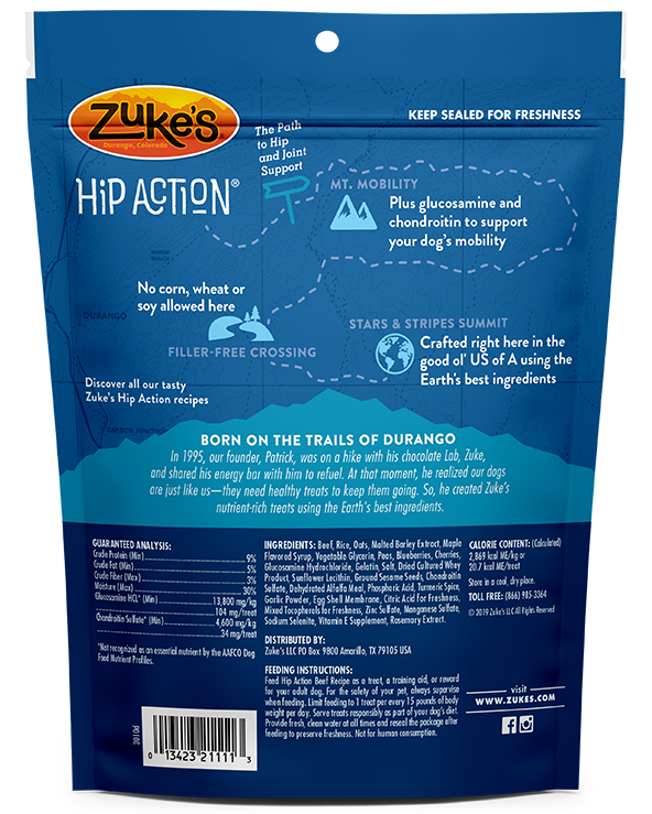 Zuke's Hip Action Roasted Beef Dog Treats