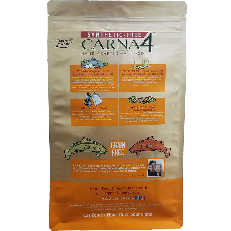 Carna4 All Life Stages Fish Formula Dehydrated Dry Cat Food