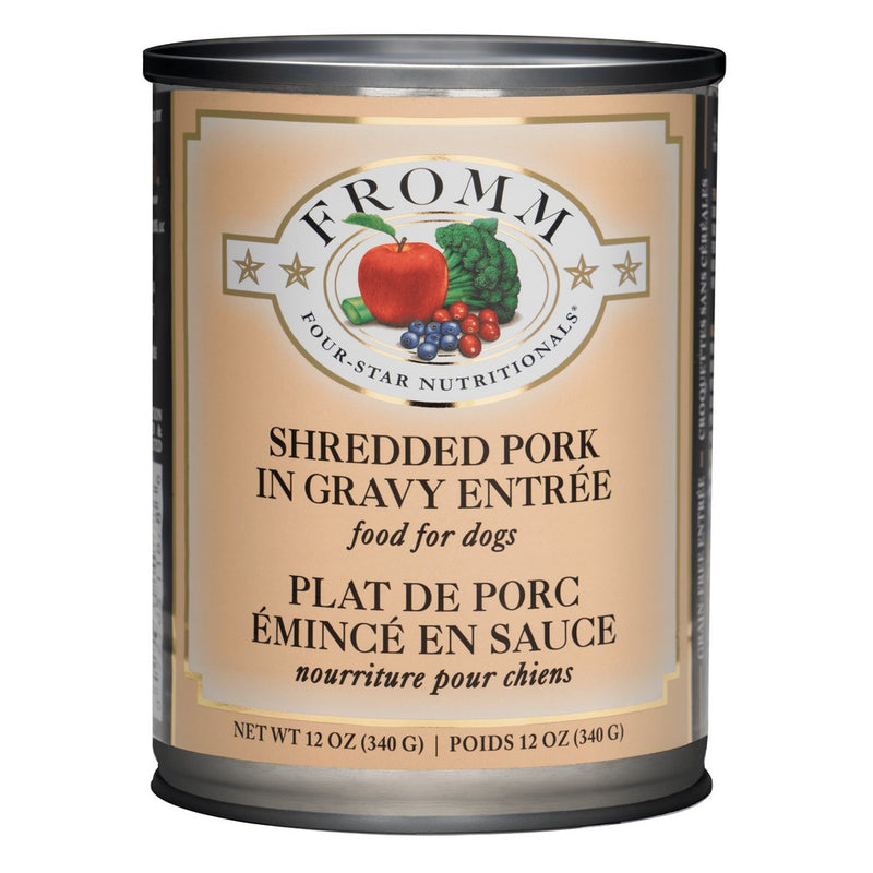 Fromm Four Star Shredded Pork Entrée Canned Dog Food, 12/12oz