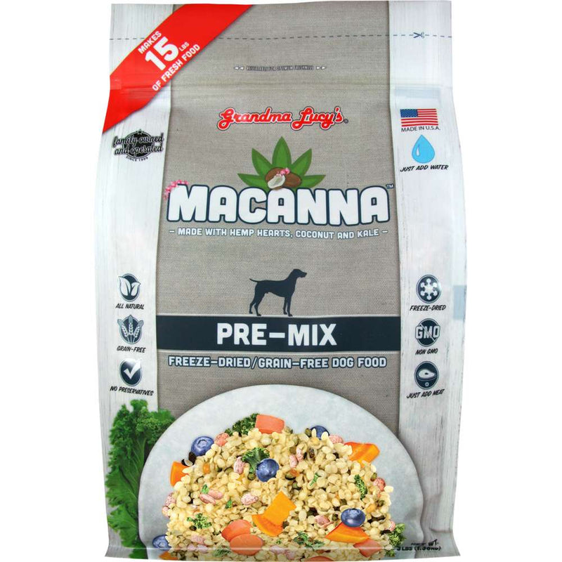 Grandma Lucy's Grain Free Macanna Pre-Mix Freeze Dried Dog Food, 3lb