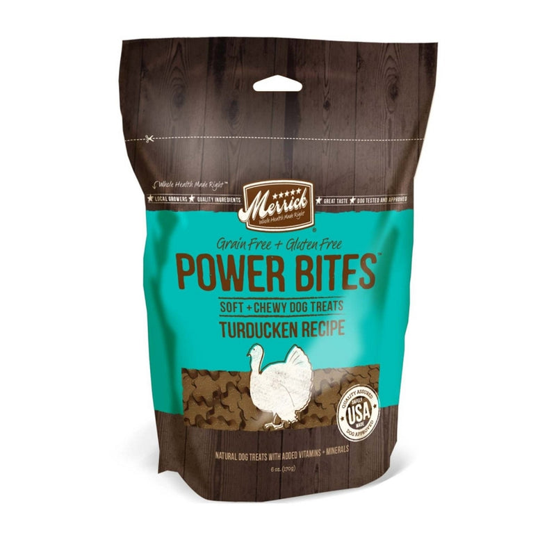 Merrick Power Bites Turducken Recipe Grain-Free Dog Treats