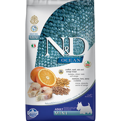 Farmina N&D Ancestral Grain Ocean Cod & Orange Adult Mini Dry Dog Food
