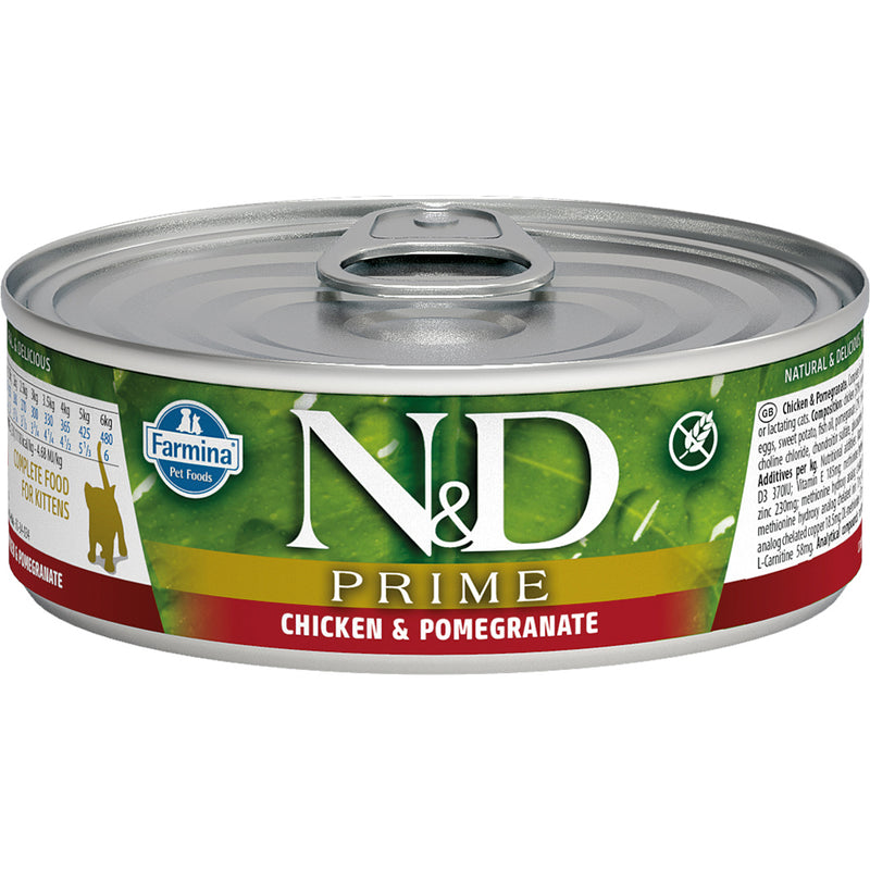 Farmina N&D Prime Kitten Chicken & Pomegranate Canned Cat Food, 12/2.8oz