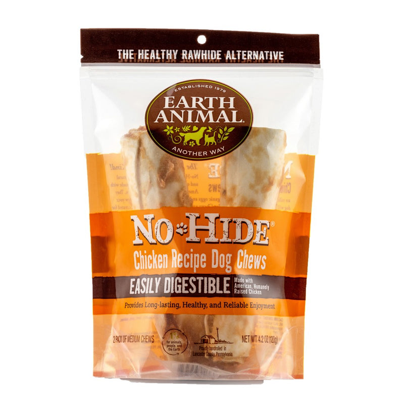 Earth Animal No Hide Chicken Flavored Rawhide Alternative Chew For Dogs