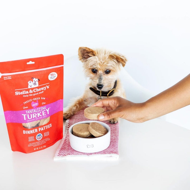 Stella & Chewy's Tantalizing Turkey Dinner Patties Freeze-Dried Dog Food