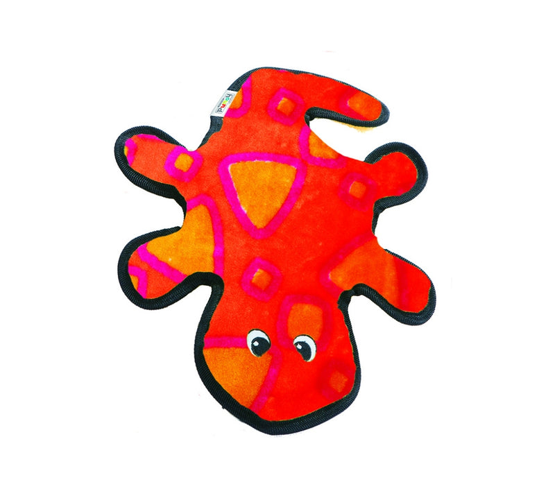 Outward Hound Invincibles Red & Orange Gecko Dog Toy