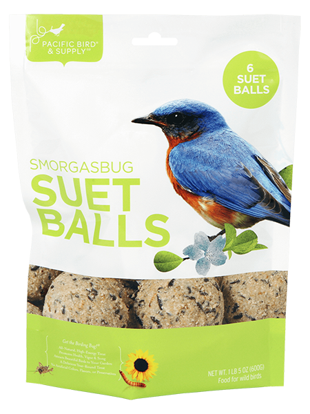Pacific Bird Smorgasbug Suet Balls For Wild Birds, 6pk
