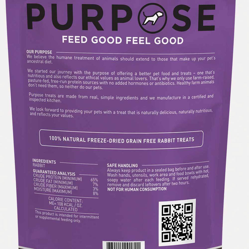 Purpose Freeze-Dried Rabbit Bites Dog Treats, 2.5oz
