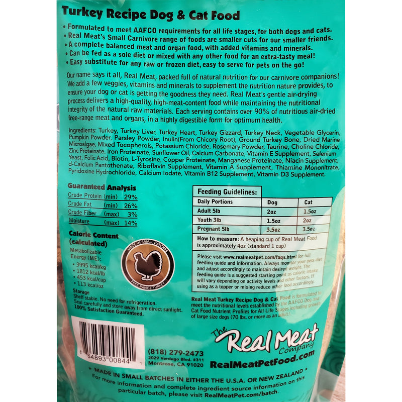 Real Meat Air-Dried Cat Food, Turkey