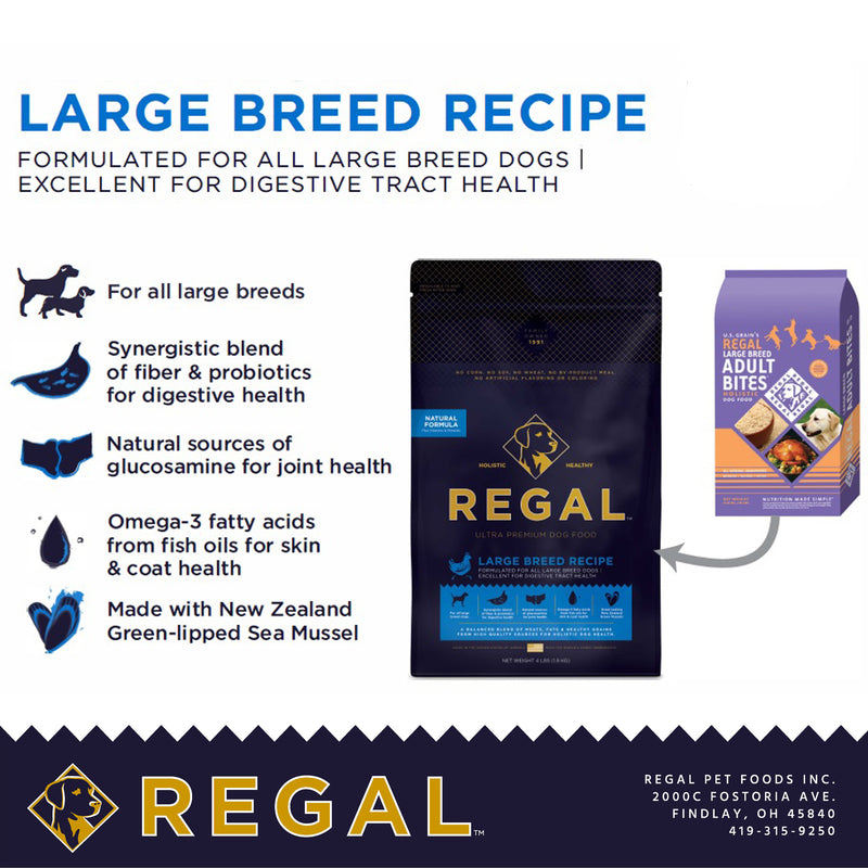 Regal Large Breed Adult Bites Holistic Dry Dog Food