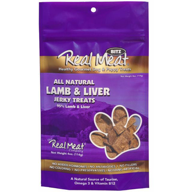 Real Meat Lamb & Liver Jerky Dog Treats