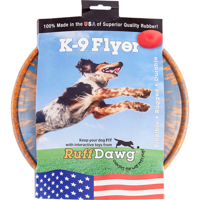 RuffDawg USA K9 Flyer Rubber Frisbee Dog Toy