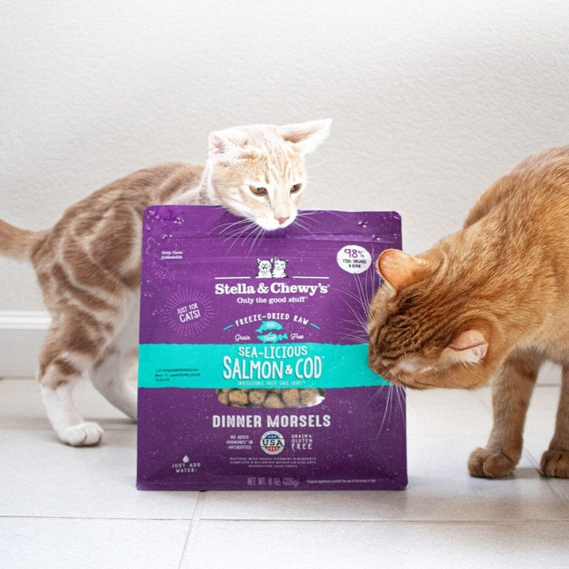Stella & Chewy's Sea Licious Salmon & Cod Dinner Morsels Freeze Dried Cat Food