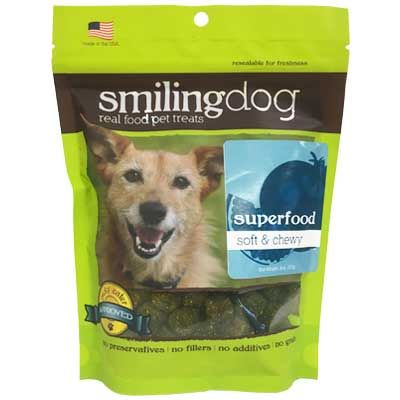 Smiling Dog Soft & Chewy Superfood Dog Treats - 8 oz