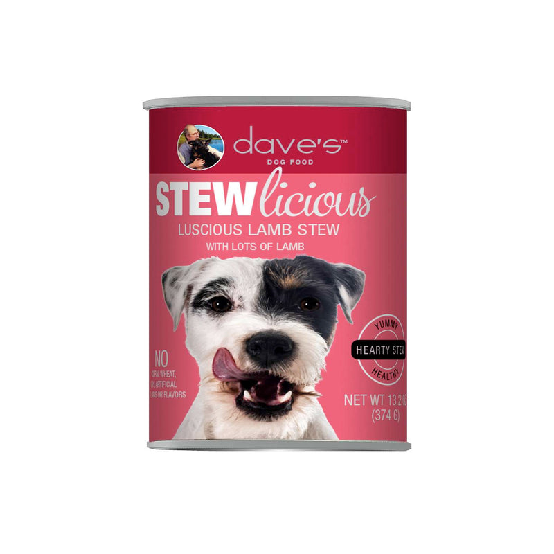 Dave's Pet Food Stewlicious Luscious Lamb Stew Canned Dog Food, 12/13oz