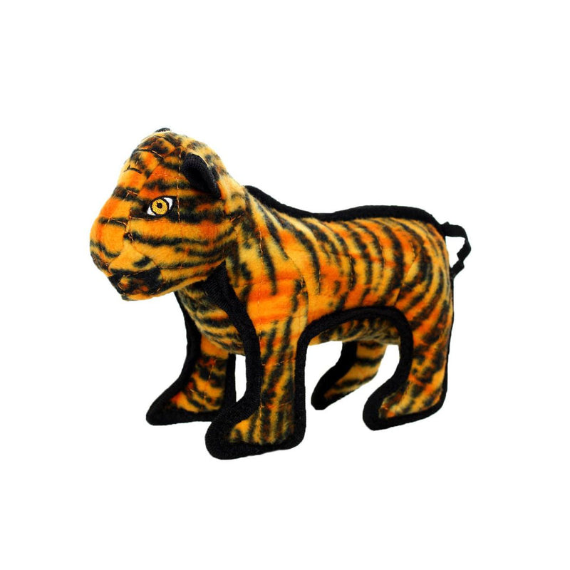 Tuffy Tatters the Tiger Zoo Series Plush Dog Toy, Junior