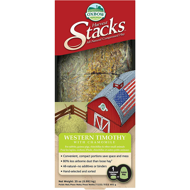 Oxbow Harvest Stacks Western Timothy Hay with Chamomile Small Animal Food, 35oz