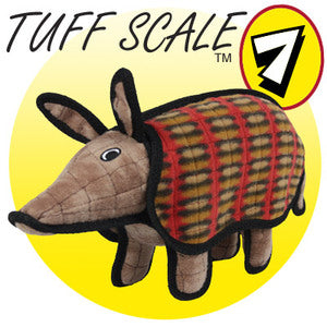 Tuffy Desert Arman the Armadillo Plush Dog Toy