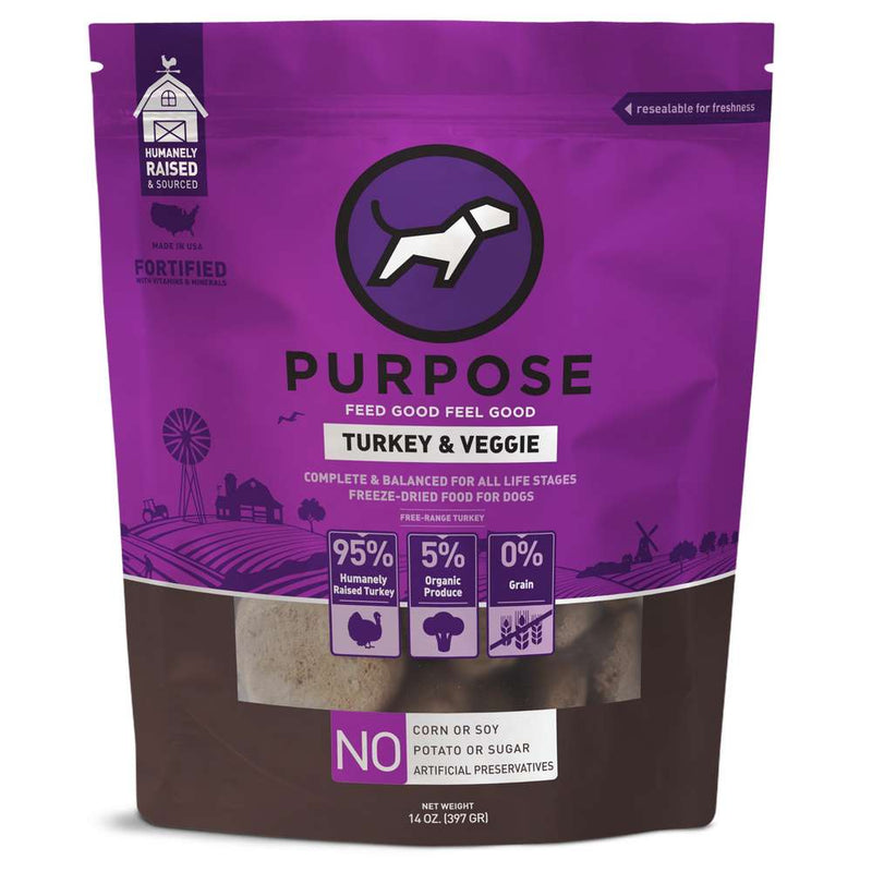 Purpose Turkey & Veggie Freeze-Dried Dog Food, 14oz