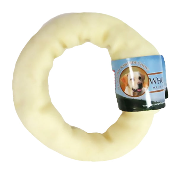 Wholesome Hide USA Rawhide Donut Dog Chew, 4""