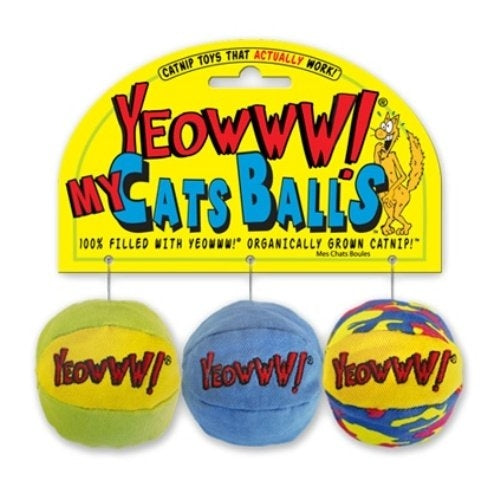 Yeowww! My Cats Balls Catnip Cat Toys (3 Pack)