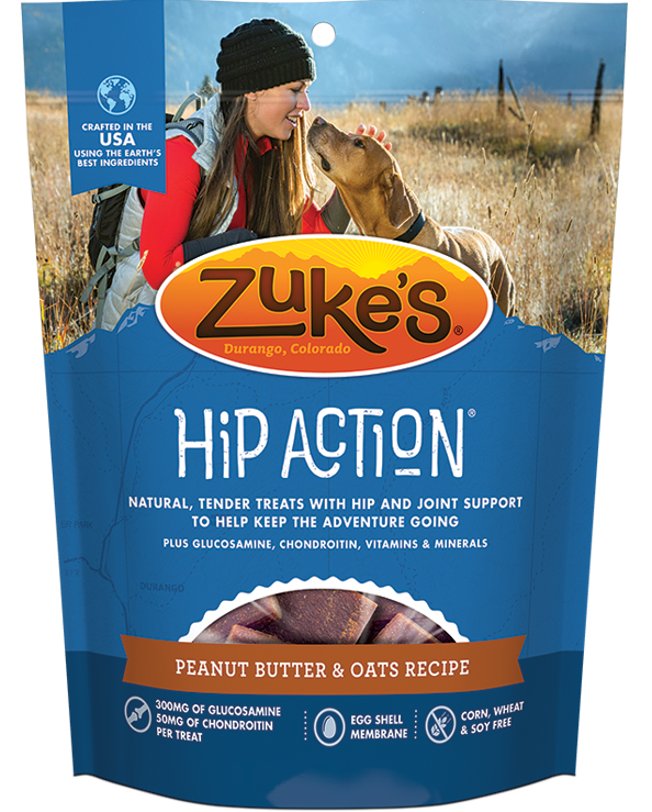 Zuke's Hip Action Fresh Peanut Butter & Oats Dog Treats
