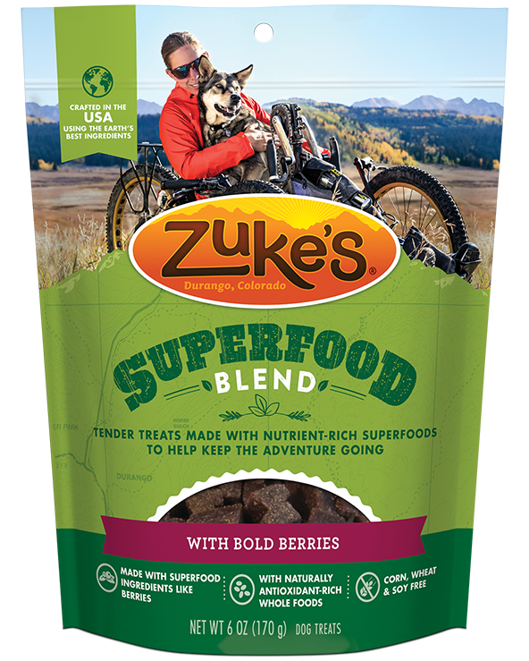 Zuke's Super Berry Soft Superfood Yummy Berry Blend Dog Treats, 6oz