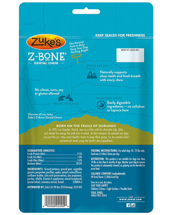 Zuke's Z-Bones Clean Apple Crisps Dental Dog Treats